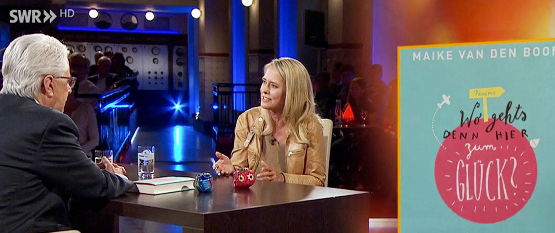 TV, Studio, SWR, Maike van den Boom, Glück, Rednerin