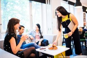 Mitarbeiter bei typisch schwedischer Kaffeepause